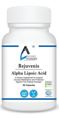 Rejuvenis Alpha Lipoic Acid is a dietary supplement to support glucose metabolism and protection against free radicals.